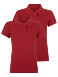 Рубашка поло для девочек с эмблемой школы