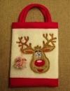 Ziemassvētku maisiņš ar izšuvumu un aplikāciju