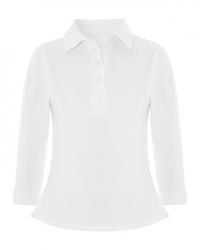 Рубашка поло для девочек с рукавами 3\4 и эмблемой школы